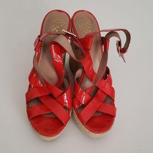 Vince Camuto Red Hattie wedge sandals espadrilles